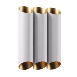 3826 бра настінне біло-золоте